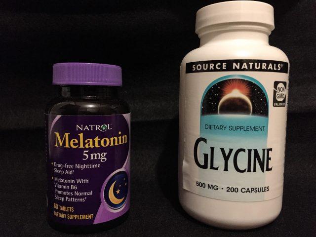 メラトニンとグリシンのサプリメント