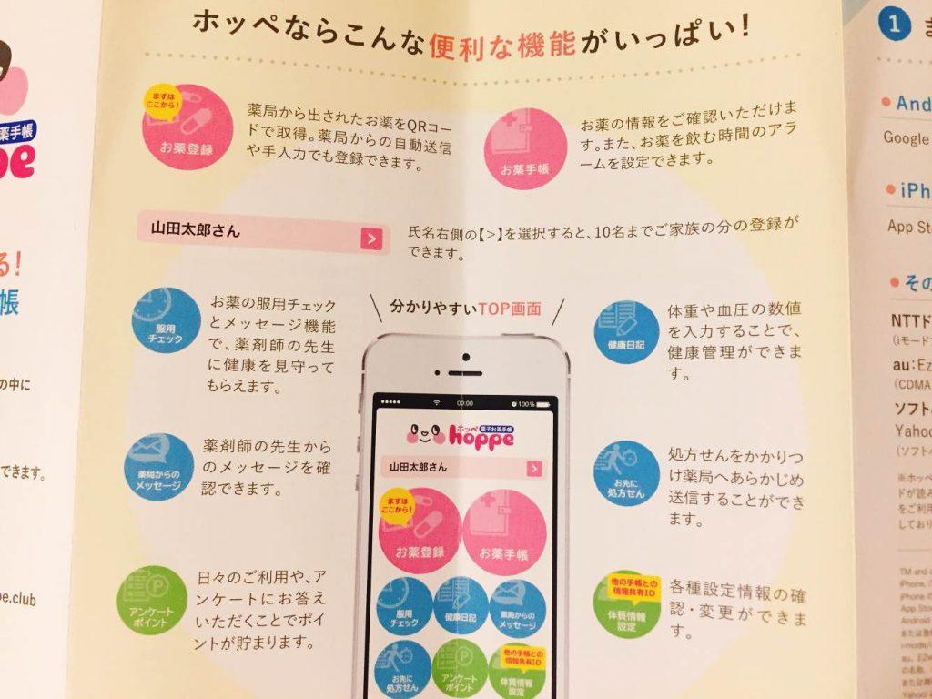 お薬手帳アプリの便利機能