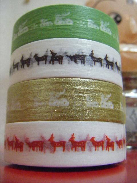 鹿柄マスキングテープ