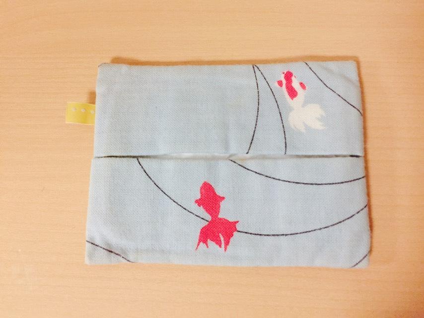 遊中川 金魚柄 ポケットティッシュケース