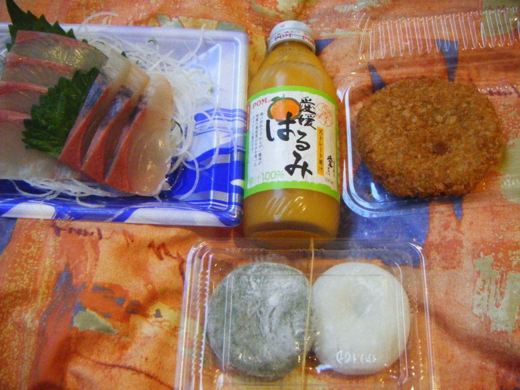 きさいや広場で買った食べ物