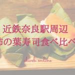 【近鉄奈良駅周辺】柿の葉寿司3種を食べ比べてみた!どれが一番おすすめ?