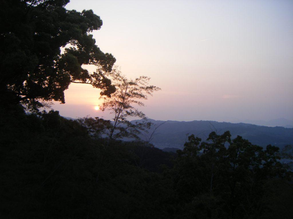 仙遊寺 宿坊からの夕陽
