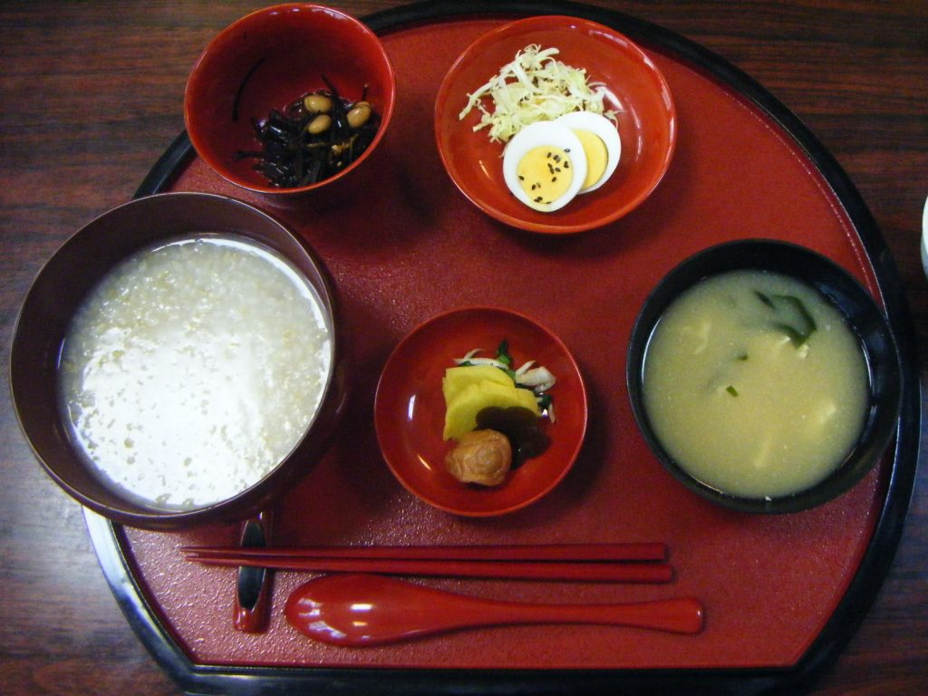 仙遊寺宿坊 朝食