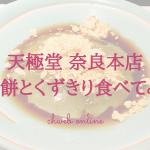 天極堂奈良本店で葛スイーツを満喫!出来立てくず餅は関東では食べたことがない食感!