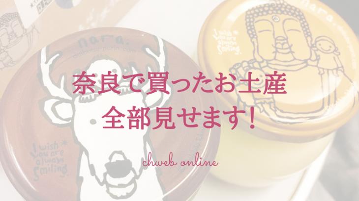 奈良で買ったお土産全部見せます!オススメのお菓子や鹿グッズは?