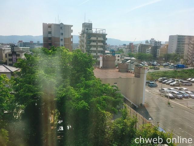 奈良ロイヤルホテル 客室の窓からの眺め