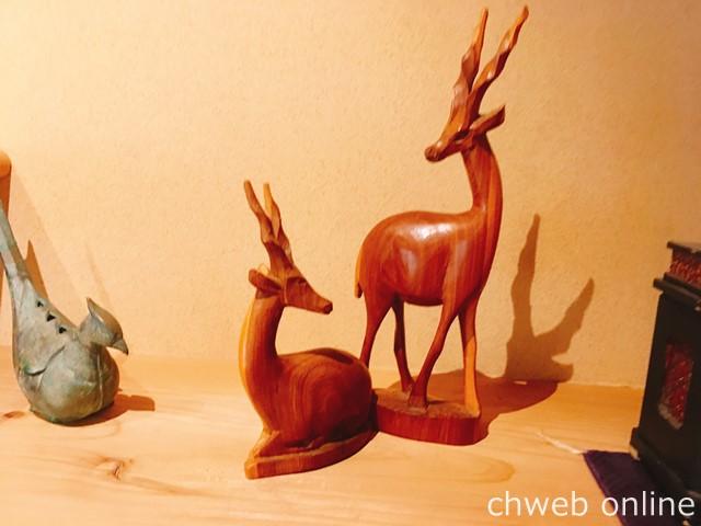 中西与三郎 鹿の置物