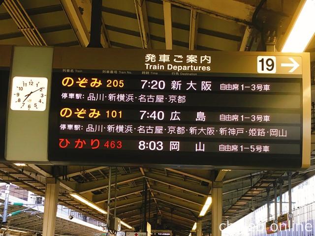 東京駅から新幹線に乗車