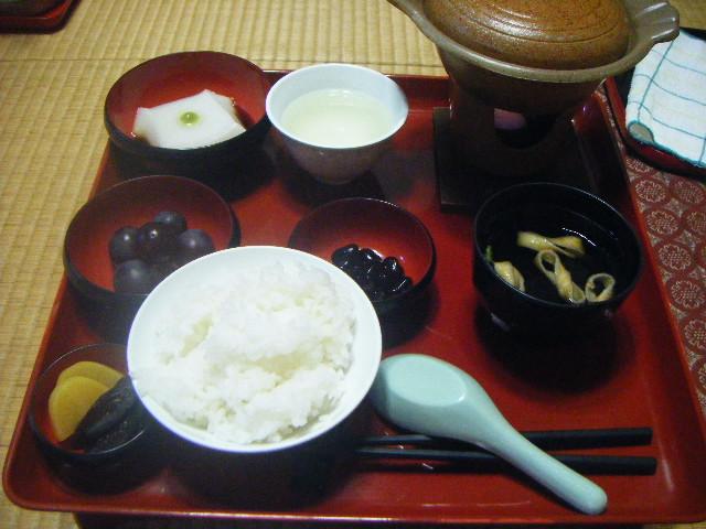 巴陵院の夕食、精進料理